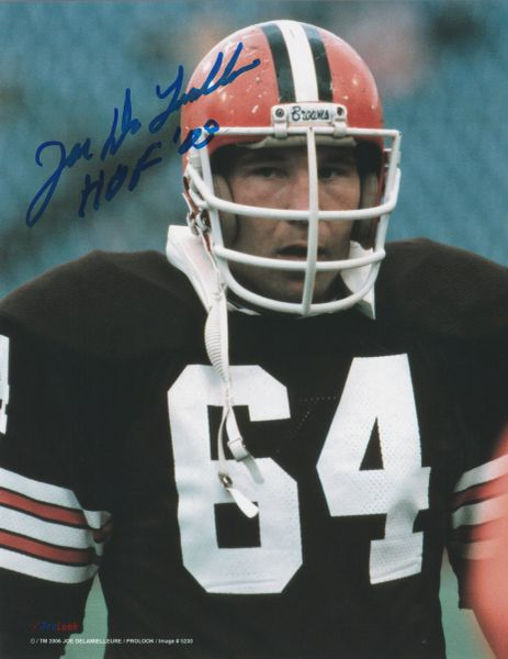 Joe Delamielleure autograph 8x10, Cleveland Browns, HOF 03