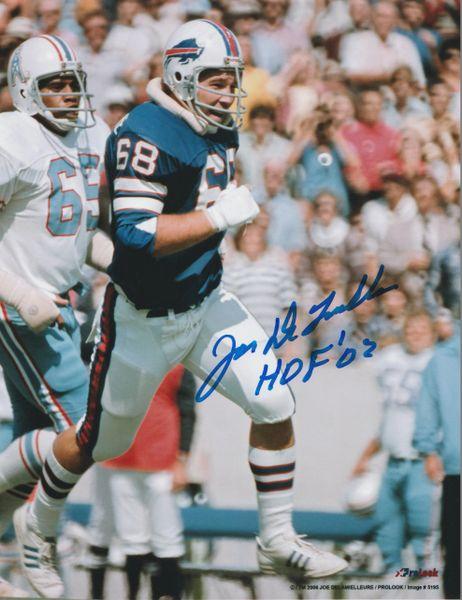 Joe Delamielleure autograph 8x10, Buffalo Bills, HOF '03
