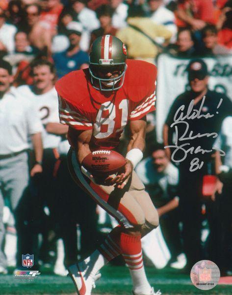 Russ Francis autograph 8x10, San Francisco 49ers, Aloha!
