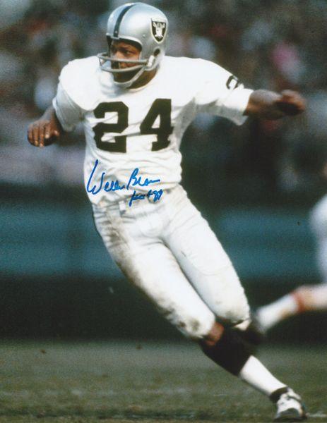 Willie Brown autograph 8x10, Oakland Raiders, HOF 1984