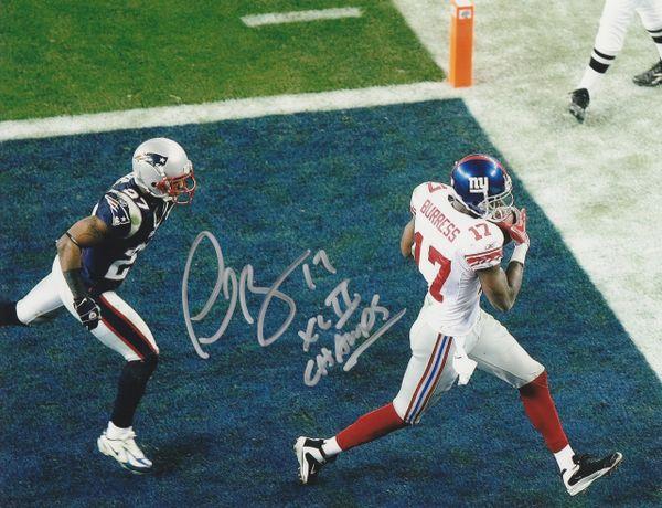 Plaxico Burress autograph 8x10, New York Giants, XLII Champs