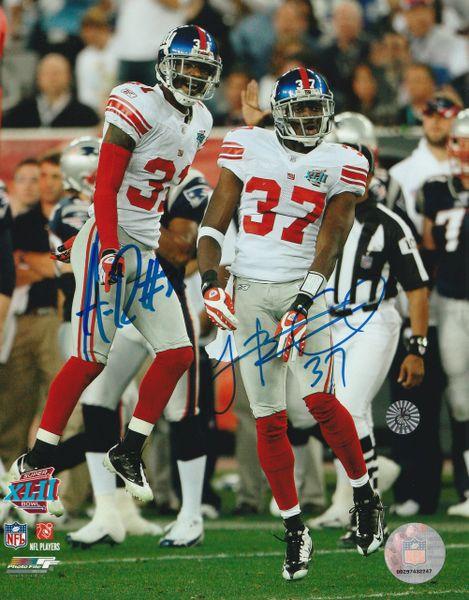 Aaron Ross & James Butler autograph 8x10, New York Giants