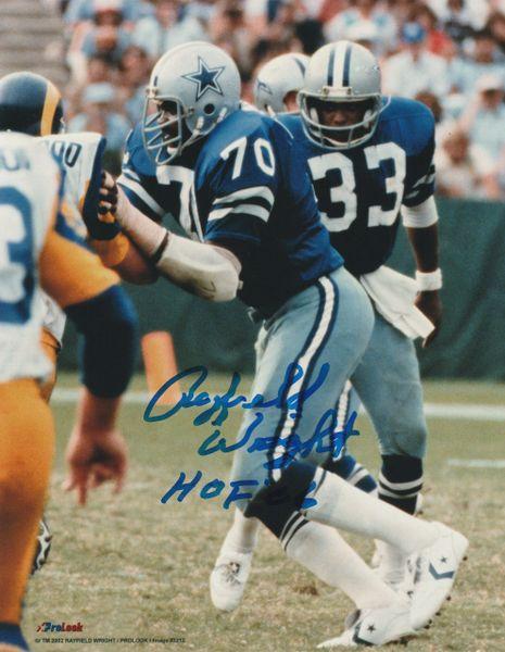 Rayfield Wright autograph 8x10, Dallas Cowboys, HOF 06