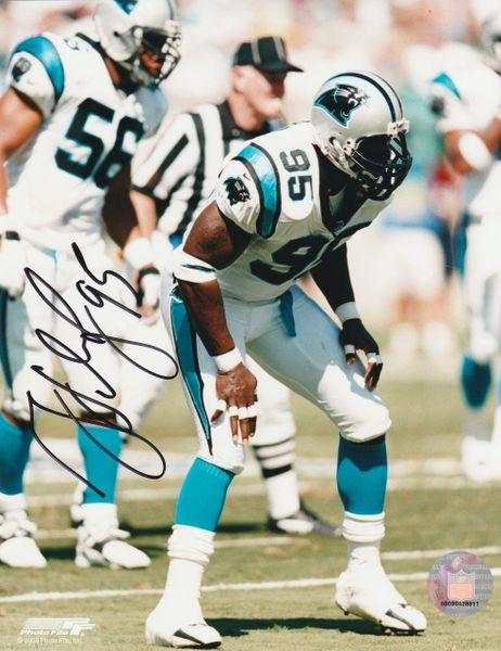 Greg Lloyd autograph 8x10, Carolina Panthers
