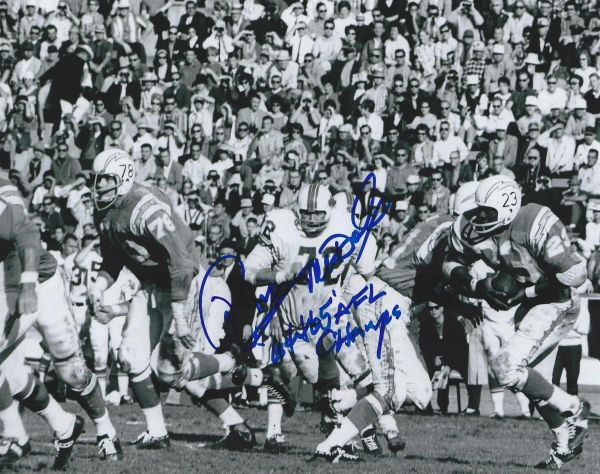 Ron McDole autograph 8x10, Buffalo Bills, 64/65 AFL Champs