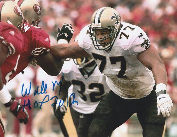 Willie Roaf autograph 8x10, New Orleans Saints, HOF 12