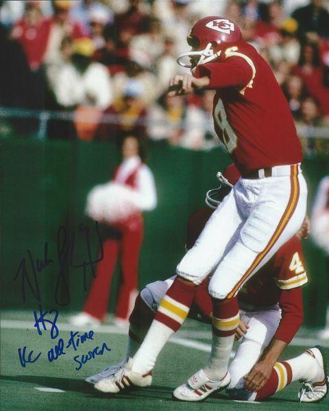 Nick Lowery autograph 8x10, Kansas City Chiefs; cool inscript