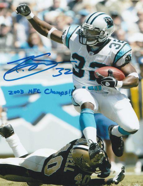 Rod Smart autograph 8x10, Carolina Panthers, 2003 NFC Champs