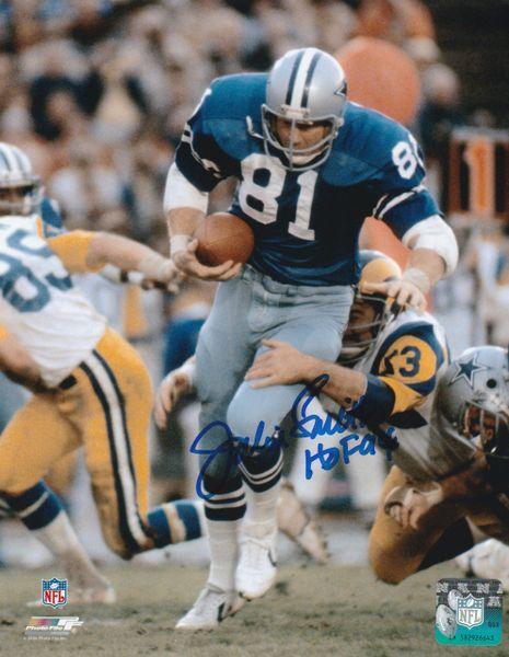 Jackie Smith autograph 8x10, Dallas Cowboys, HOF 94
