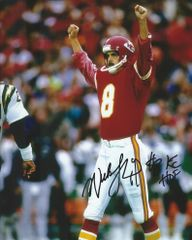 Nick Lowery autograph 8x10, Kansas City Chiefs; KC HOF