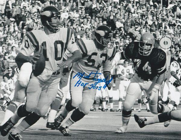 Mick Tingelhoff autograph 8x10, Minnesota Vikings, HOF 2015