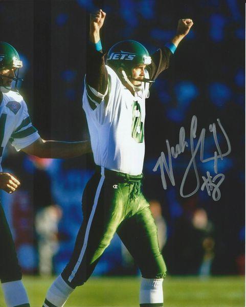 Nick Lowery autograph 8x10, New York Jets