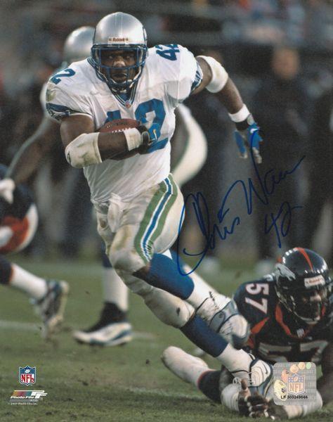 Chris Warren autograph 8x10, Seattle Seahawks