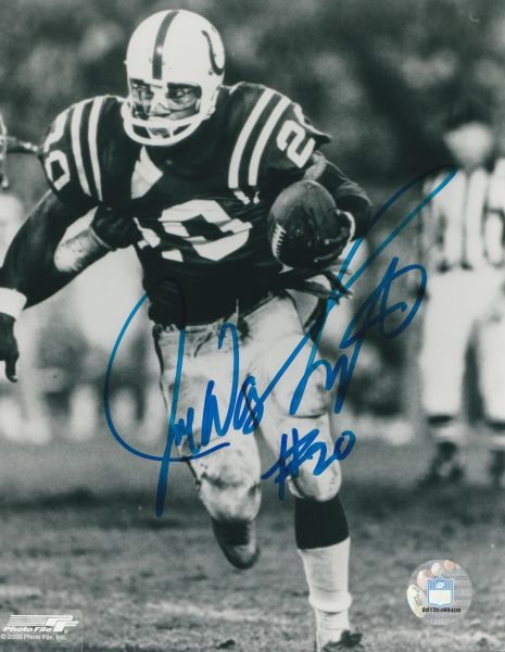 Joe Washington autograph 8x10, Baltimore Colts