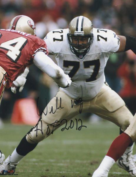 Willie Roaf autograph 8x10, New Orleans Saints, HOF 2012