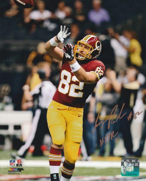 Logan Paulsen autograph 8x10, Washington Redskins, HTTR inscription