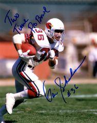 Vai Sikahema autograph 8x10, Phoenix Cardinals, 2x Pro Browl