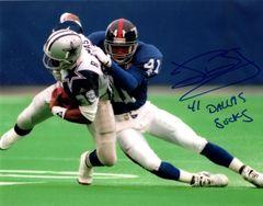 John Booty autograph 8x10, NY Giants..Dallas Sucks