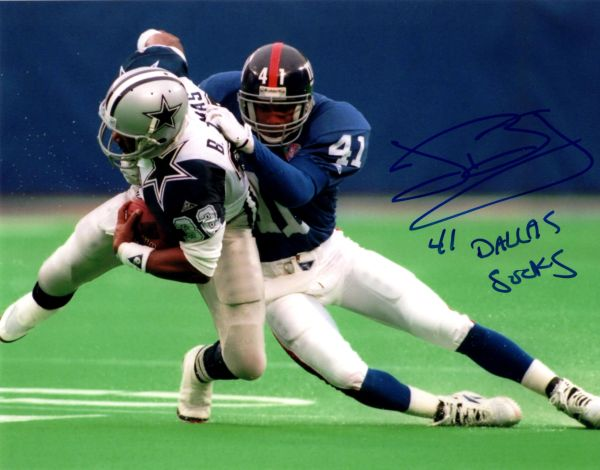 John Booty autograph 8x10, NY Giants..Dallas Sucks