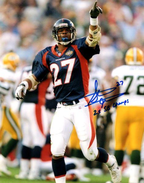 Autographed 8x10 Steve Atwater, Denver Broncos, 2x SB Champs