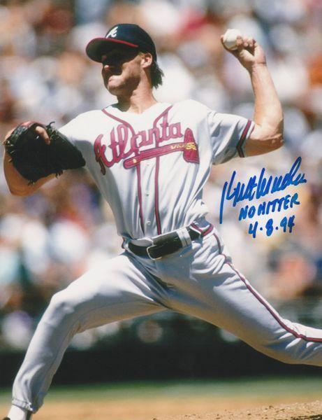 Kent Mercker autograph 8x10, Atlanta Braves, No Hitter 4-8-94 inscription