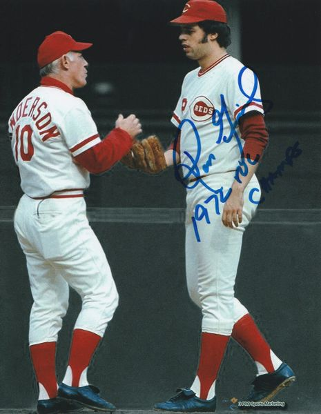 Ross Grimsley autograph 8x10, Cincinnati Reds, 1972 NL Champs