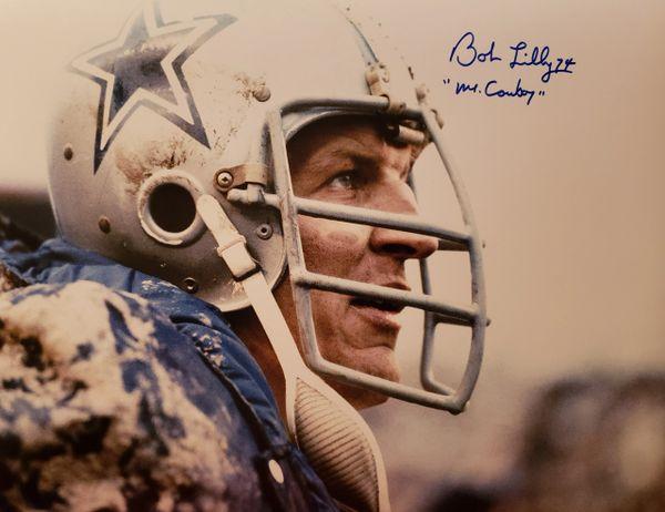"Bob Lilly autograph 11x14, Dallas Cowboys, ""Mr. Cowboy"""
