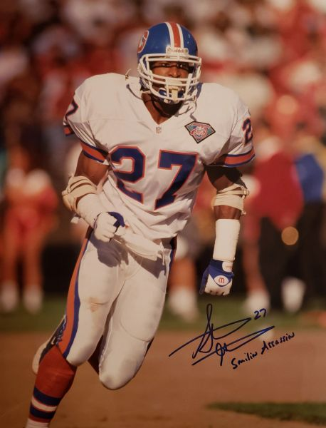 Steve Atwater autograph 11x14, Denver Broncos, Smilin Assassin
