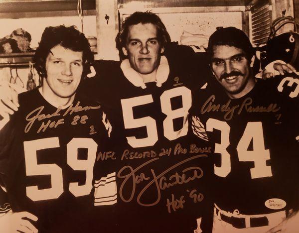 Jack Lambert/Jack Ham/Andy Russell autograph 11x14, 24 Pro Bowls