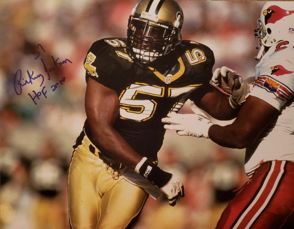 Rickey Jackson autograph 11x14, New Orleans Saints, HOF 2010