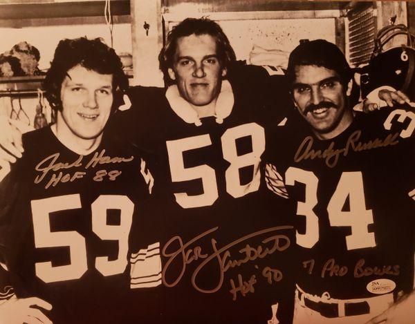 Lambert/Ham/Russell autograph 11x14, Pittsburgh Steelers