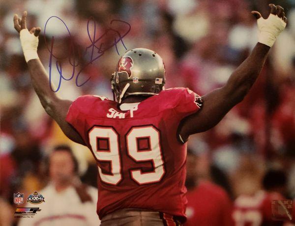 Warren Sapp autograph 11x14, Tampa Bay Buccaneeers