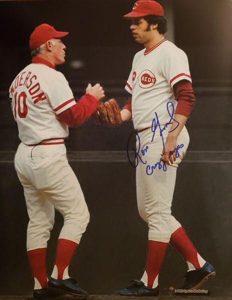 Ross Grimsley autograph 8x10, Cincinnati Reds, Crazy Eyes