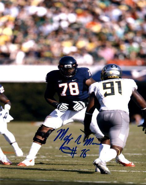 Morgan Moses autograph 8x10, UVA