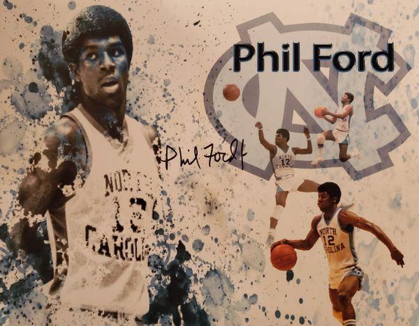 Phil Ford autograph 11x14, UNC Tar Heels