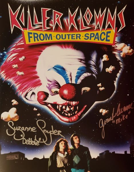 Suzanne Snyder/Grant Cramer autograph 11x14, Killer Klowns From Outer Space