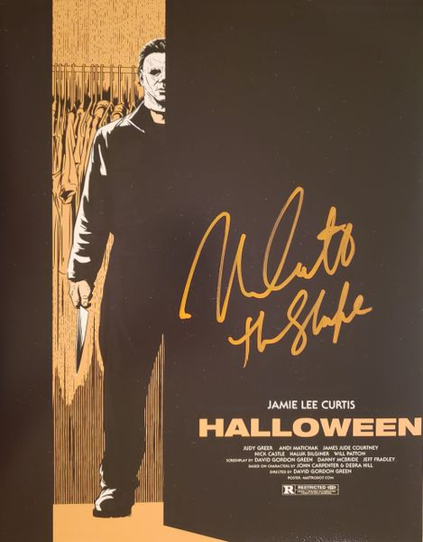 Nick Castle autograph 11x14, Halloween, The Shape