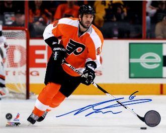 Andreas Lilja autograph 8x10, Philadelphia Flyers