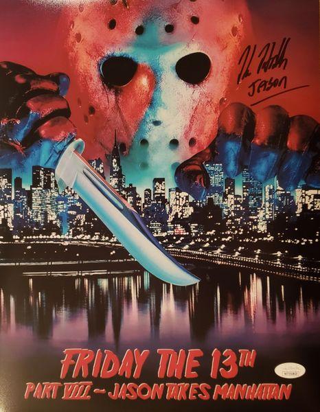 Kane Hodder autograph 11x14, Friday the 13th Part VIII, Jason Voorhees, JSA
