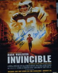 Dick Vermeil and Vince Papale autograph 11x14, Invincible