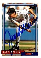 Jack Morris autograph 1992 Topps Card #235 Twins