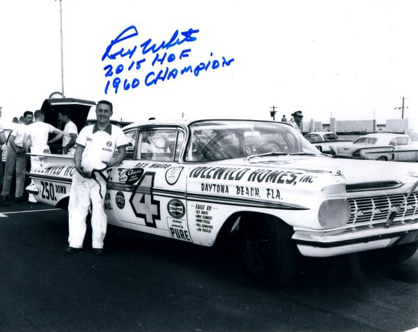Rex White autograph 8x10, Nascar, with 2 inscriptions