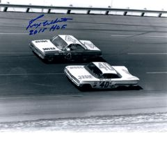 Rex White autograph 8x10, Nascar, Inscription/ HOF 15