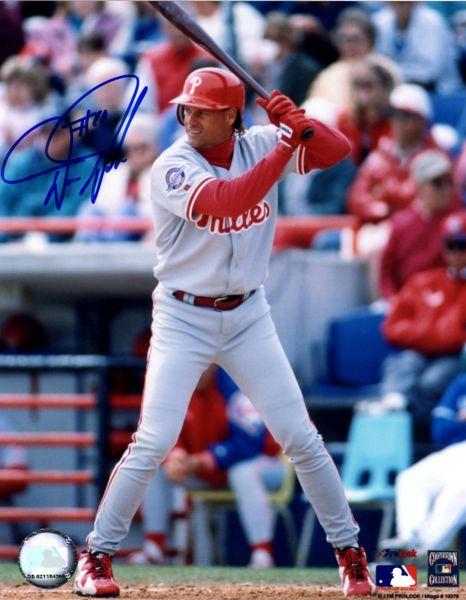 Darren Daulton autograph 8x10, Philadelphia Phillies
