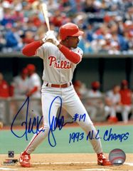 Ricky Jordan autographed 8x10, Philadelphia Phillies, 1993 NLC