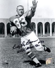Billy Ray Barnes autograph 8x10, Philadelphia Eagles, 1960 champ