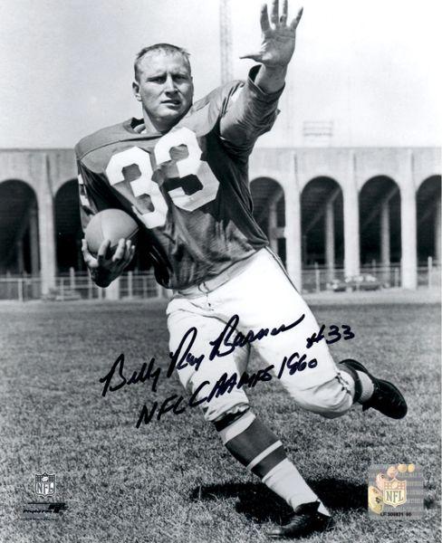 Billy Ray Barnes autograph 8x10, Philadelphia Eagles, 1960 champ