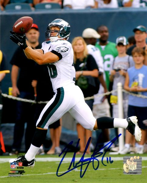 Chad Hall autograph 8x10, Philadelphia Eagles