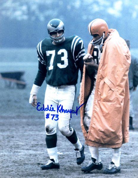 Eddie Khayat autograph 8x10, Philadelphia Eagles