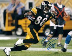Emmanuel Sanders autograph 8x10, Pittsburgh Steelers